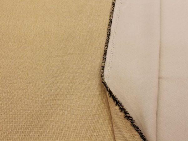 Фото 4 - Ткань блэкаут бежевый (имитация льна).