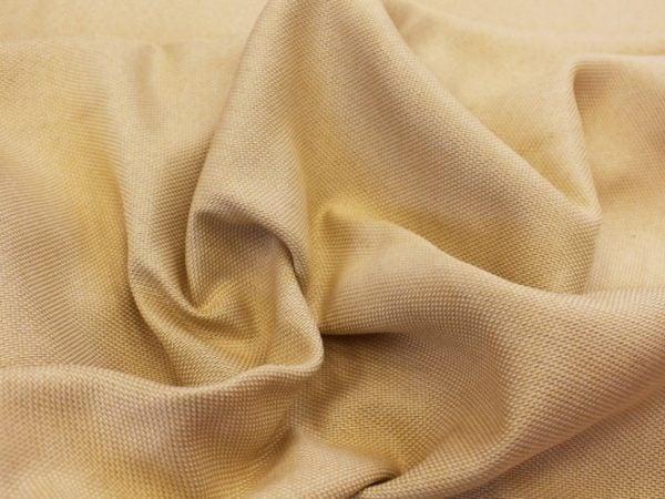 Ткань блэкаут кремовая (имитация льна)