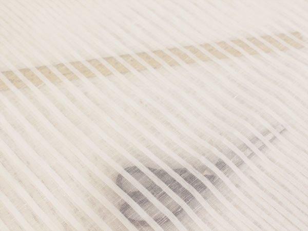 Фото 9 - Ткань декоративная, белая, 260см узкая полоска.