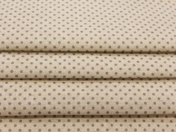 Фото 7 - Льняная ткань в мелкий серый горох (фон суровый).