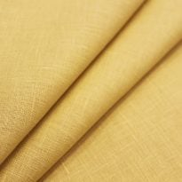 Ткань костюмная лен 100%, горчичный светлый (лоскут)