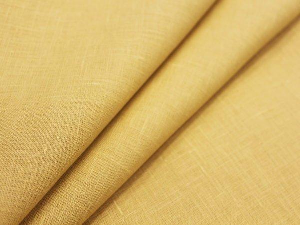 Ткань костюмная лен 100%, горчичный светлый