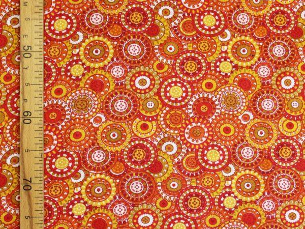 Фото 7 - Ситец набивной ОМ плательный оранжевый Шуя ширина 80см.