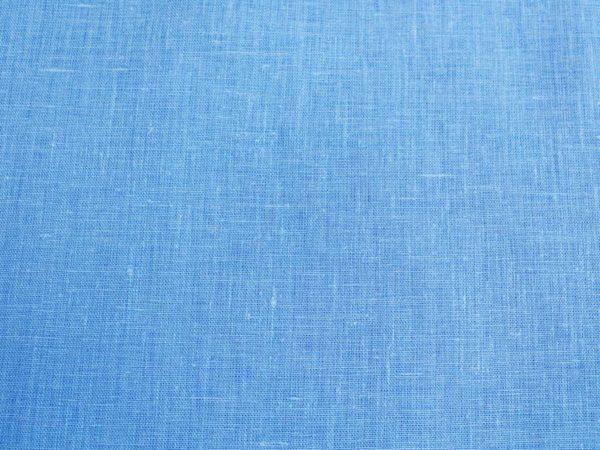 Фото 7 - Ткань костюмная голубая лен 100%.