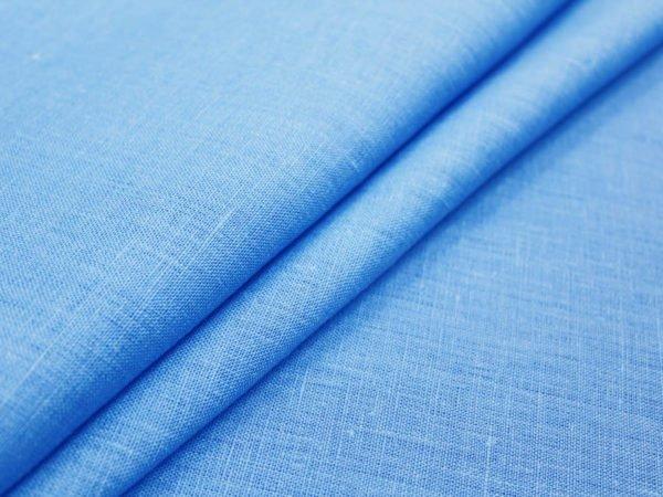 Фото 3 - Ткань костюмная голубая лен 100%.