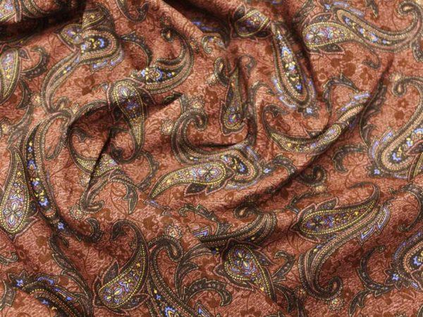 """Фото 8 - Ткань плательная  """"Лейла""""  фон коричневый."""