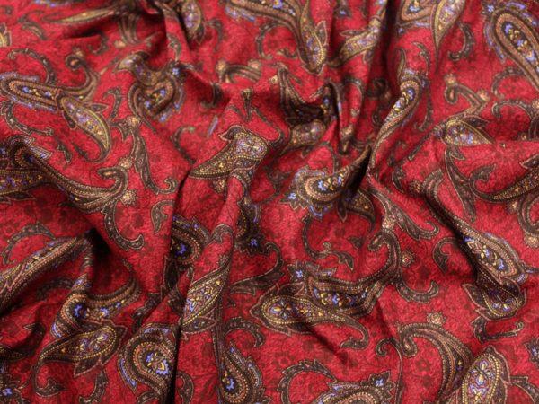 """Фото 6 - Ткань плательная  """"Лейла""""  фон бордовый."""