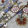 """Фото 11 - Льняная ткань """"Восточный сад"""" (серая, грунт)."""