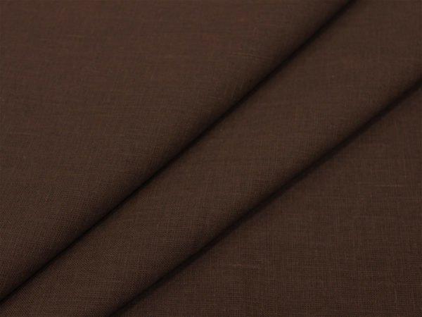 Фото 3 - Лен 100% тёмно-коричневый.