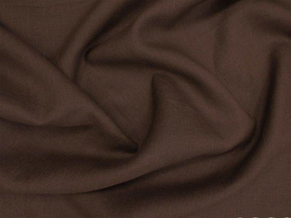 Фото 8 - Лен 100% тёмно-коричневый.