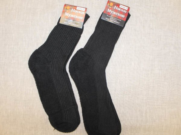 Фото 3 - Шерстяные носки мужские махровый след.