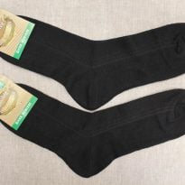 Фото 16 - Носки мужские с крапивой черные (сетка).
