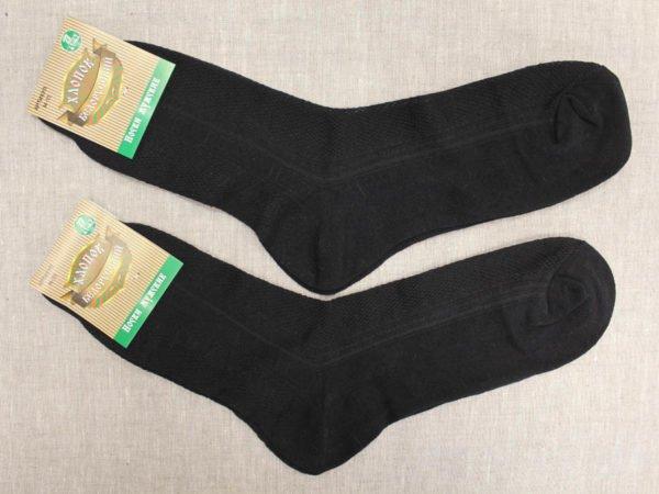 Носки мужские с крапивой черные (сетка)