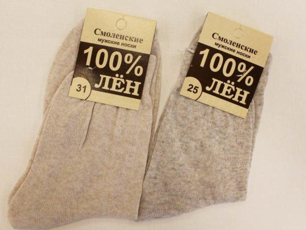Фото 3 - Носки мужские лен 100% (Смоленск).