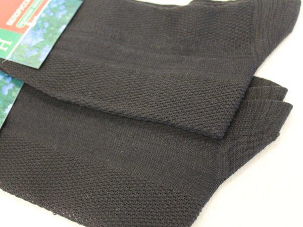 Фото 5 - Беларусь носки мужские, лён, чёрные.