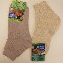 Носки женские Ж-019 лён слабая резинка лен 100%