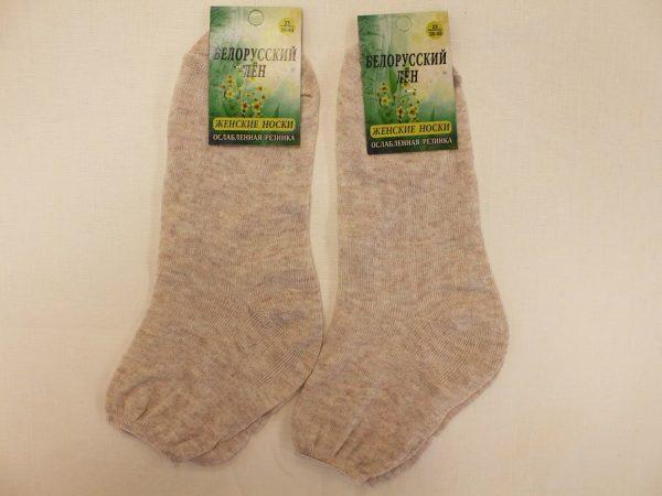 Фото 3 - Беларусь носки женские лен со слабой резинкой.