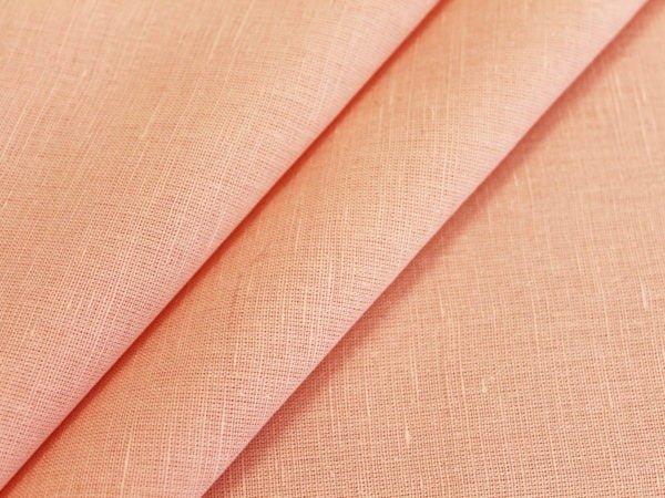 Фото 3 - Ткань льняная плательная цвета пудры.
