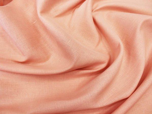 Фото 6 - Ткань льняная плательная цвета пудры.