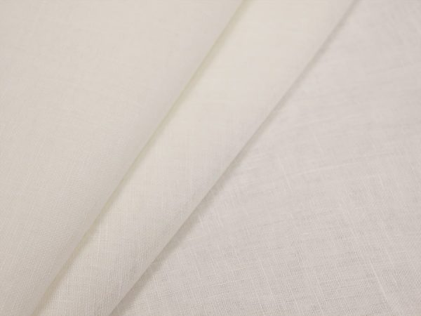 Фото 3 - Вуаль льняная белая ширина 260 см.