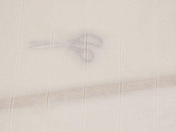 Фото 8 - Вуаль  льняная белая, 260 см, лен 100%.