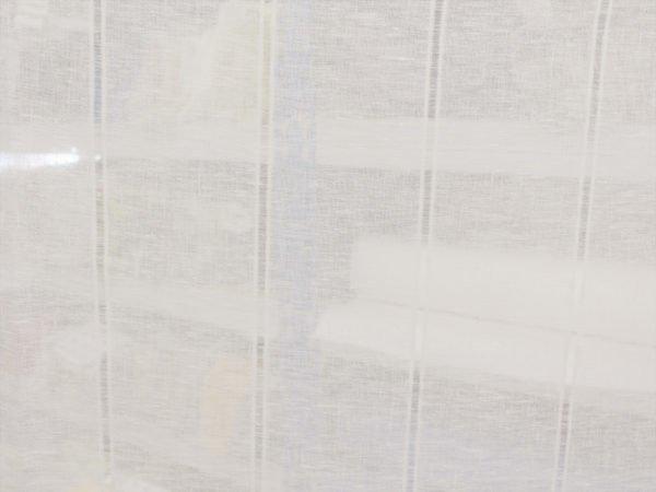 Фото 6 - Вуаль  льняная белая, 260 см, лен 100%.