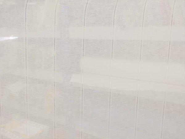 Фото 9 - Вуаль  льняная белая, 260 см, лен 100%.