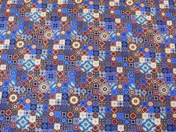"""Фото 5 - Ткань плательная  """"Персидские  мотивы"""" синяя."""
