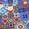 """Фото 12 - Ткань плательная  """"Персидские  мотивы"""" синяя."""