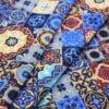"""Фото 8 - Ткань плательная  """"Персидские  мотивы"""" синяя."""