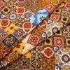 """Ткань плательная  """"Персидские  мотивы"""" коричневая"""