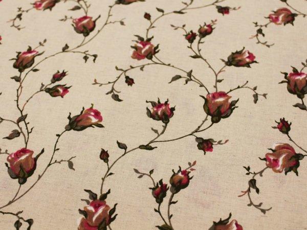 """Фото 8 - Льняная набивная ткань """"зайцевская роза""""."""