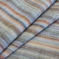 Фото 14 - Ткань льняная сорочечная, лён 100% , цветная  полоска.