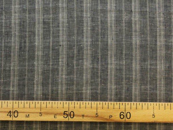 Фото 8 - Ткань льняная умягченная в  тонкую полоску, лен 100%.