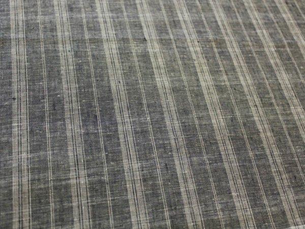 Фото 9 - Ткань льняная умягченная в  тонкую полоску, лен 100%.