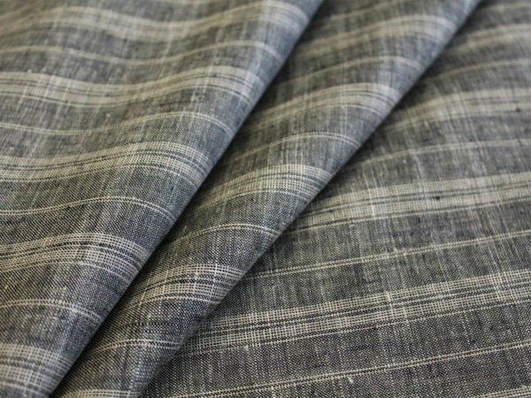 Фото 3 - Ткань льняная умягченная в  тонкую полоску, лен 100%.