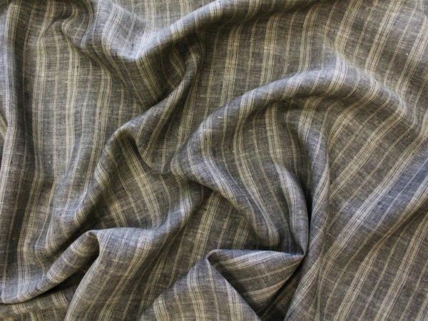 Фото 7 - Ткань льняная умягченная в  тонкую полоску, лен 100%.