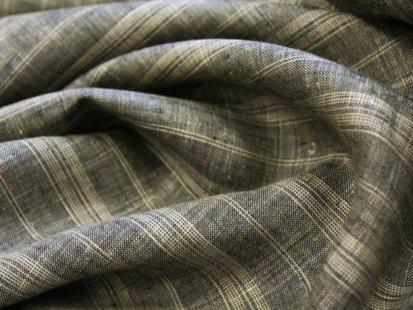 Фото 5 - Ткань льняная умягченная в  тонкую полоску, лен 100%.
