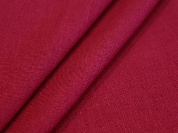 Фото 3 - Ткань лен 100% цвет  спелая  вишня.