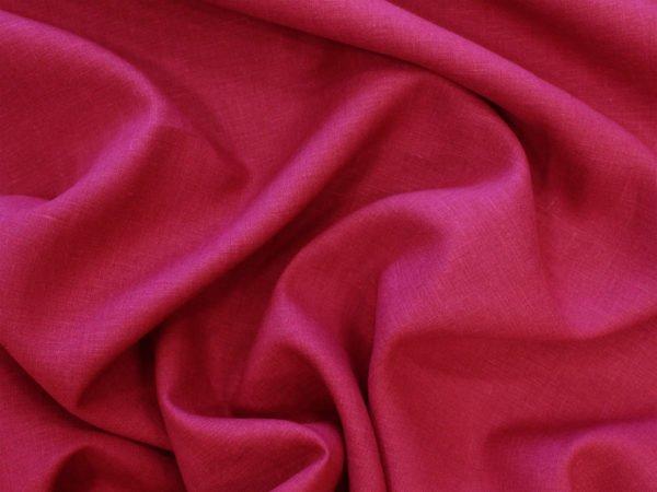 Фото 5 - Ткань лен 100% цвет  спелая  вишня.