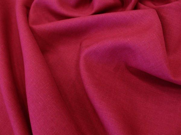 Фото 7 - Ткань лен 100% цвет  спелая  вишня.