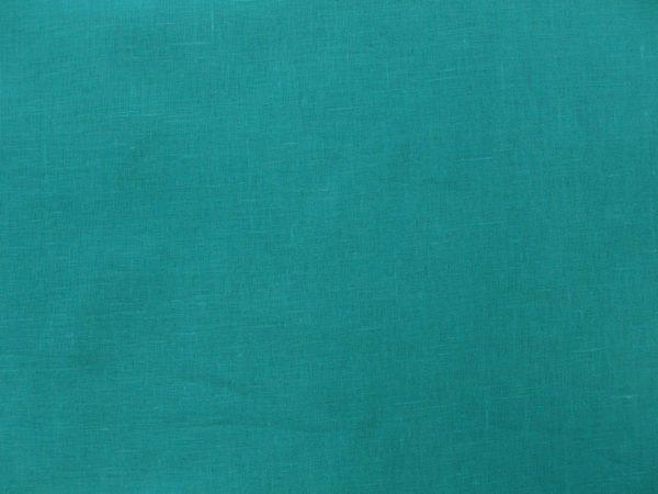 Фото 4 - Ткань льняная умягченная бирюзовая лен 100%.