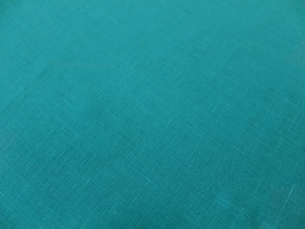 Фото 5 - Ткань льняная умягченная бирюзовая лен 100%.