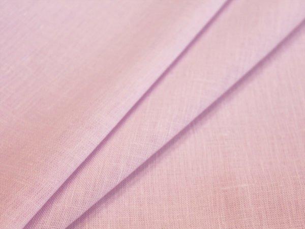 Ткань льняная сиреневая, лен 100%