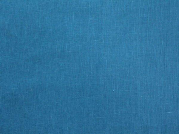 Фото 6 - Ткань лен 100% ярко-голубой умягченный.