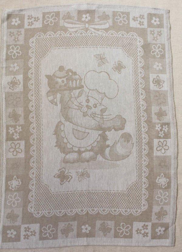 """Фото 3 - Полотенце льняное """"Кот-повар""""."""