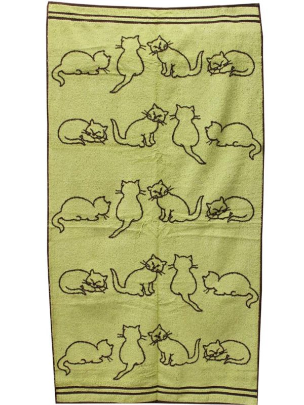 "Фото 7 - Полотенце  махровое  ""Кошки"" 70*140 см."