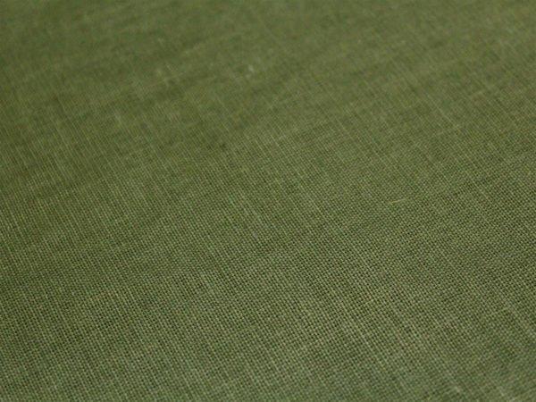 Фото 6 - Ткань льняная оливковая.