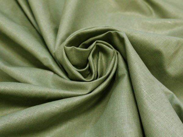 Фото 5 - Ткань льняная оливковая.