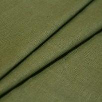 Ткань льняная оливковая